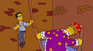 Frank Grimes Jr tries to attack homer