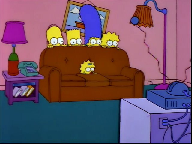 Peeking Heads couch gag