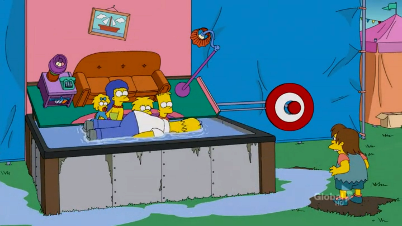 Dunk Tank Couch couch gag
