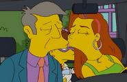 Skinner and Calliope Kiss