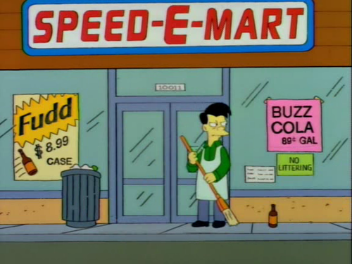 Dono do Speed-E-Mart