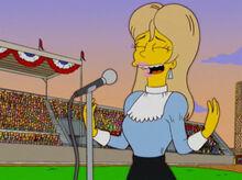 Tabitha cantando hino nacional