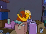 Annette making out with Apu