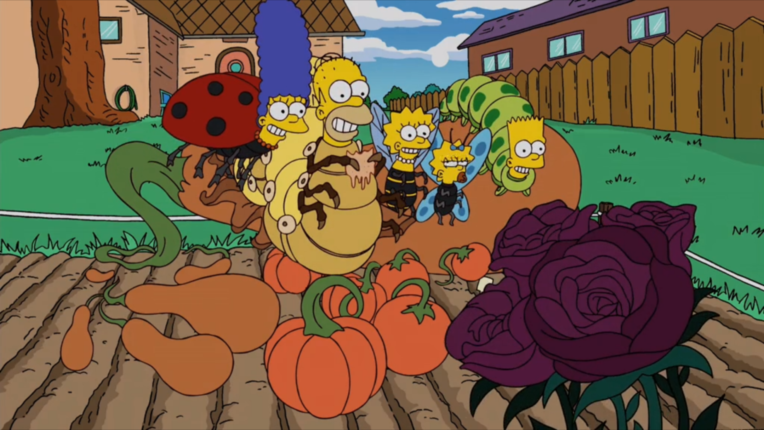 Crop Field Family couch gag