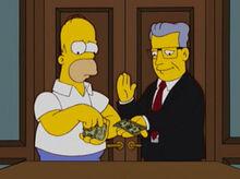 Homer pagando bud armstrong