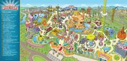 The Simpsons Ride Map of KrustyLand