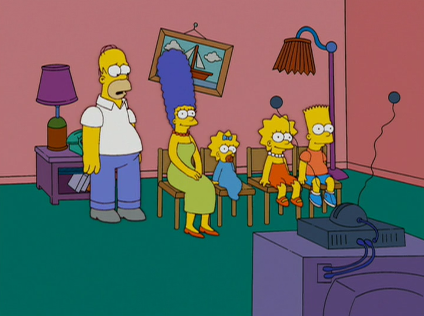 Musical Chairs couch gag
