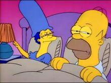 Homer e marge acordando no meio da noite