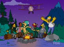 Burns fuzila de avião