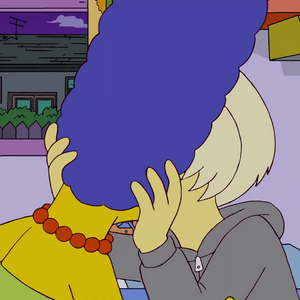 Lady Gaga Kisses Marge.png