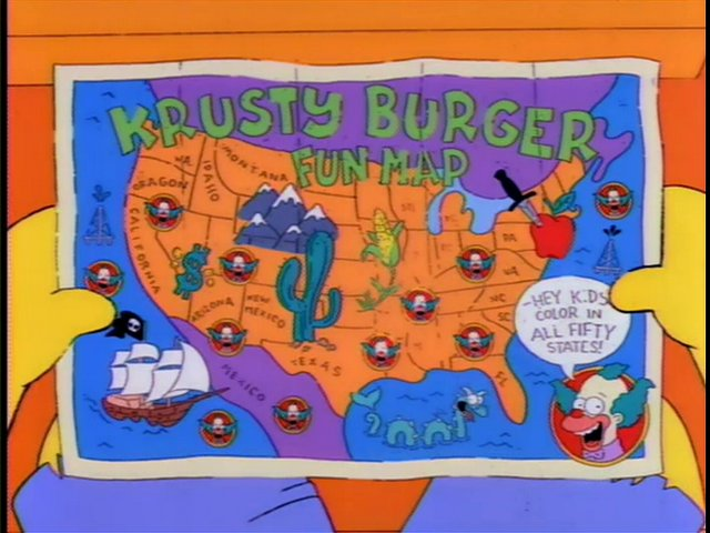Krusty Burger Fun Map