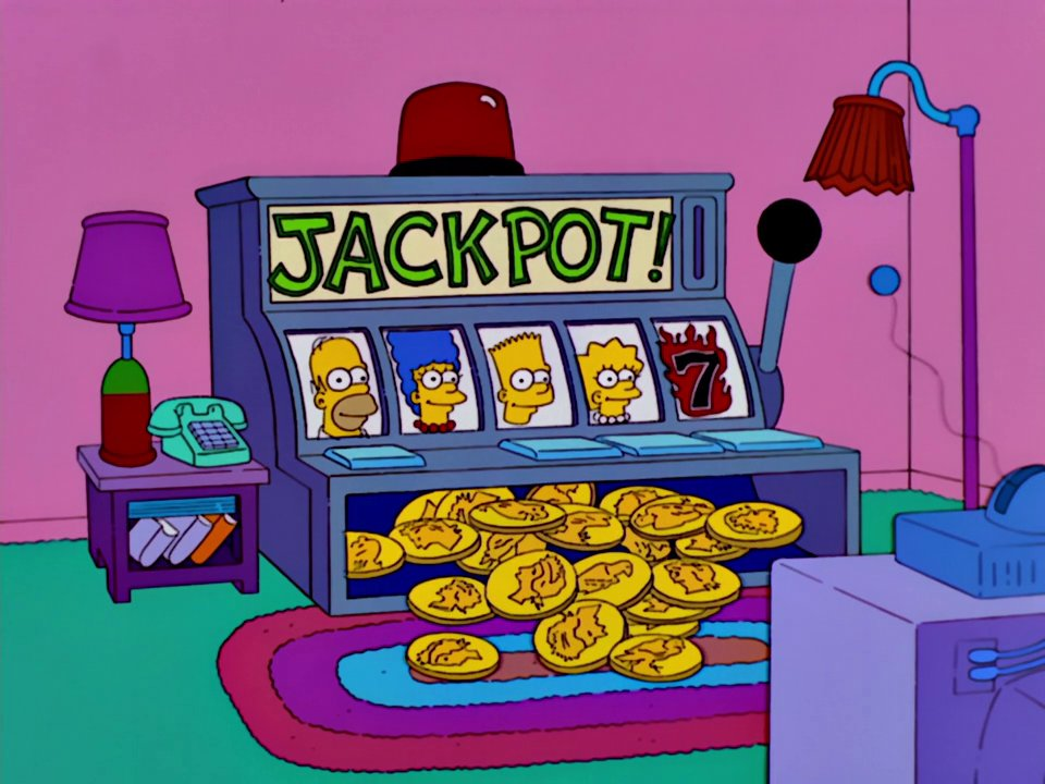 Slot Machine couch gag