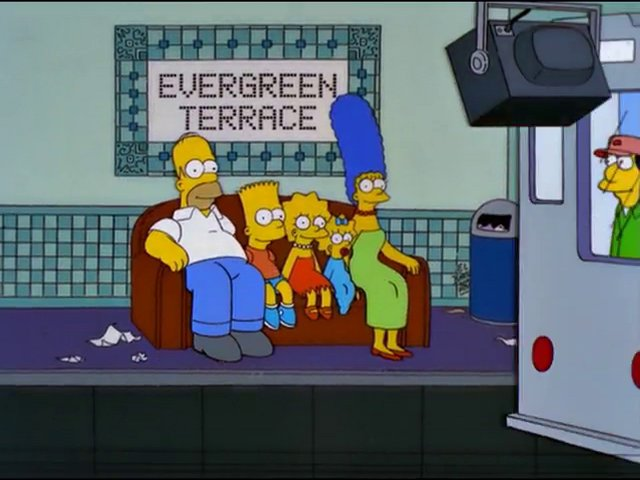 Evergreen Terrace Subway couch gag