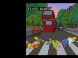 Beatles Album Covers couch gag