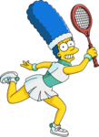 Marge tennis tapped out