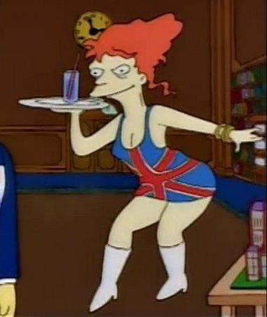 British waitress