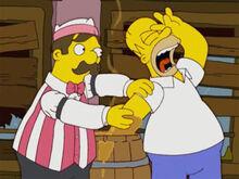 Homer caramelo quente braço