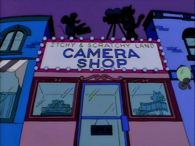 Itchy & Scratchy Land Camera Shop