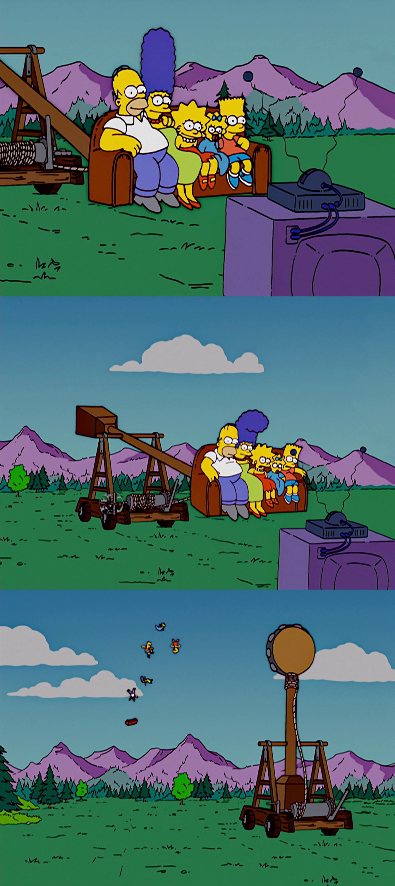 Catapult couch gag
