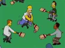 Homer lenny carl rolobol