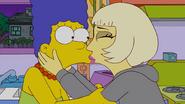 Lady Gaga Kisses Marge 2