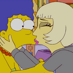 Lady Gaga Kisses Marge 2.png