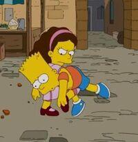 Dorit beats up Bart.