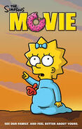 The Simpsons Movie Maggie pointing at Something Poster