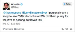 Al Jean message about Simpsons DVDs being discontinued.png