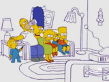 Harold and the Purple Crayon couch gag