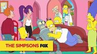 """Futurama meets The Simpsons from """"Simpsorama"""" THE SIMPSONS ANIMATION on FOX"""
