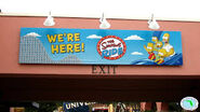 The Simpsons Ride Sign on Universal Studios Exit