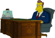 Arnold Schwarzenegger in The Simpsons Movie