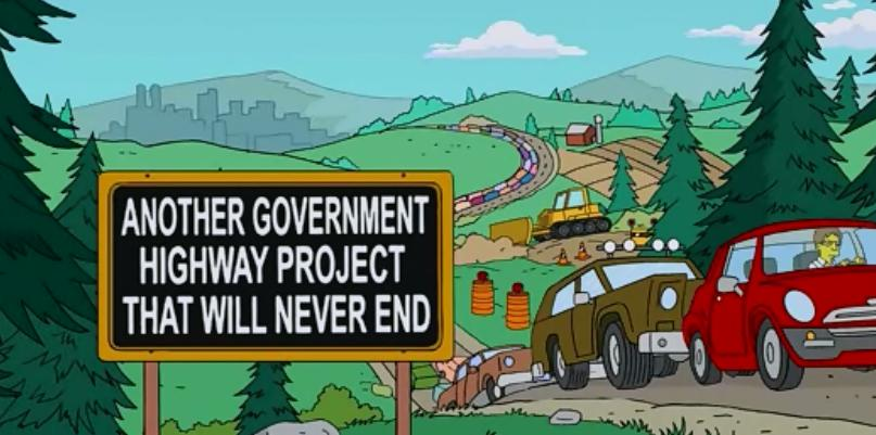 Another Government Highway Project That Will Never End