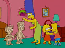 Marge palitos lisa bart briga