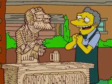 Moe escultura palitos amou