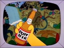 Propaganda da cerveja Duff