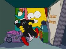 Bart guarda boneco cofre