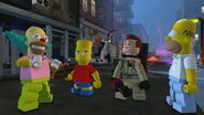 Lego Dimensions Homer, Bart, & Krusty with Ghostbuster Peter Venkman