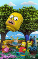 The Simpsons Brick Like Me poster