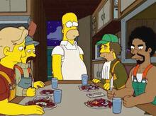 Homer iscas jantar pescadores