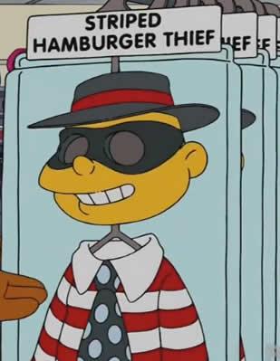 Ladrão de Hambúrguer Listrado