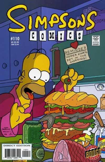 Simpsons Comics 110
