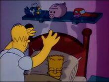 Homer assaltando o Bart