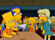 Bart Signs Becky's Yearbook