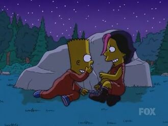 Bart and Gina Pinching Each Other