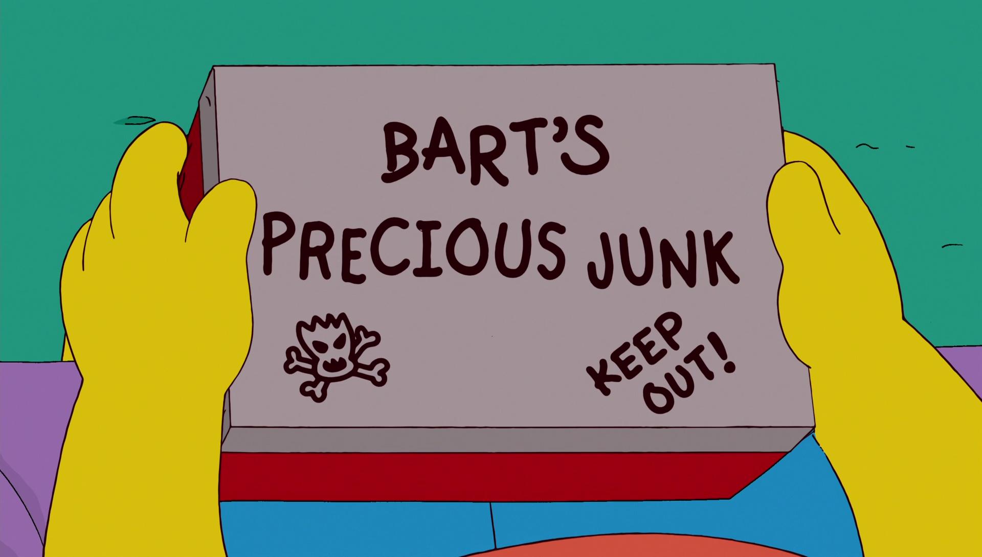 Bart's Precious Junk