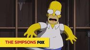 "THE SIMPSONS Gliding Silently from ""Gal of Constant Sorrow"" ANIMATION on FOX"