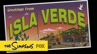 """Greetings From Isla Verde from """"The Winter of His Content"""" THE SIMPSONS ANIMATION on FOX"""