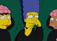 Marge nariz cheirada